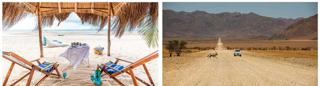 Santorini in Mozambique and a self Drive in Namibia