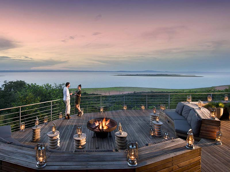 Amazing Deck views at Bumi Hills Safari Lodge Lake Kariba in Zimbabwe