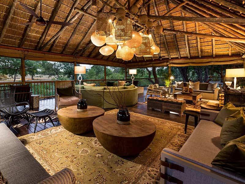 Safari Deck at Sabi Sabi Bush Lodge in Sabi Sabi Private Game Reserve South Africa
