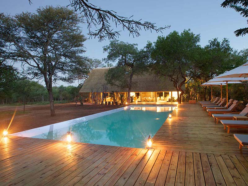 Relax by the pool at Kapama Southern Camp in Kapama Private Game Reserve South Africa