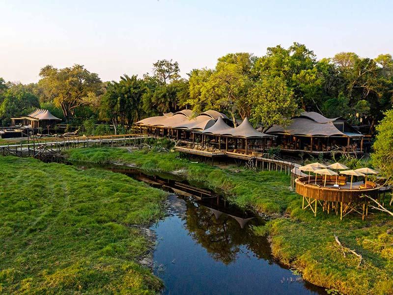 Awesome Delta views from Xigera Safari Lodge, Okavango Delta, Botswana