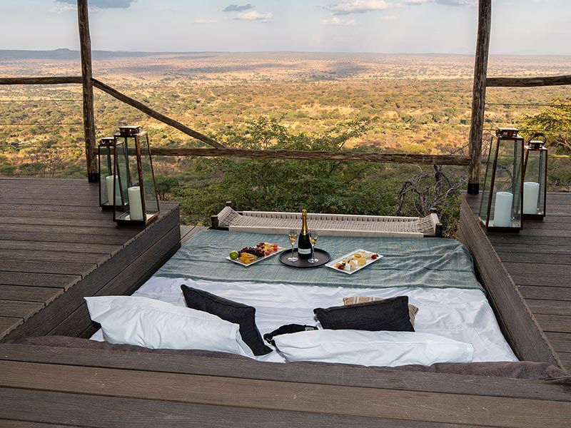 Fancy a drink and snack on you private deck over looking the valley? Lemala Mpingo Ridge Lodge, Tarangire National Park, Tanzania