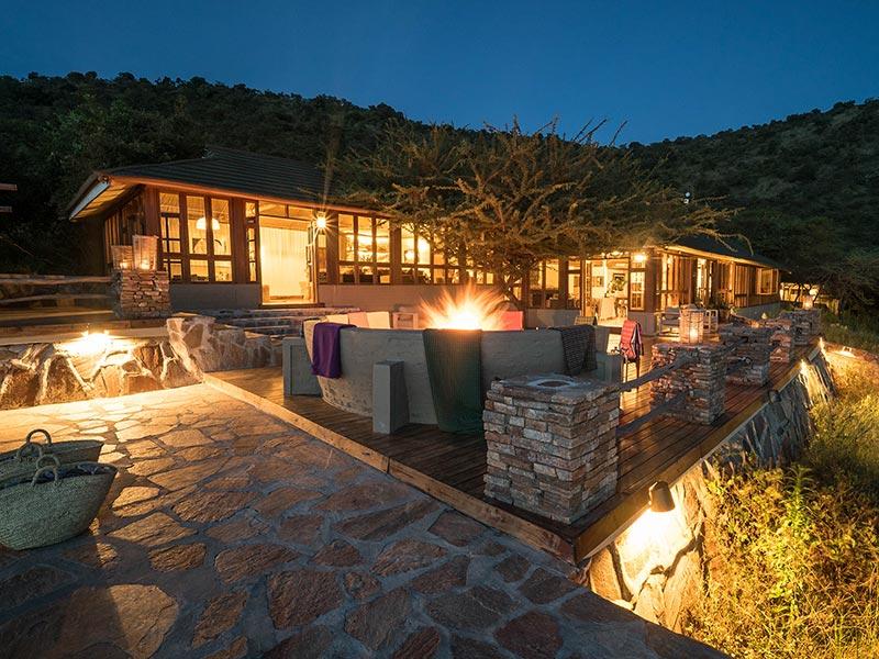 Stunning night time views of Taasa Lodge, Serengeti National Park, Tanzania